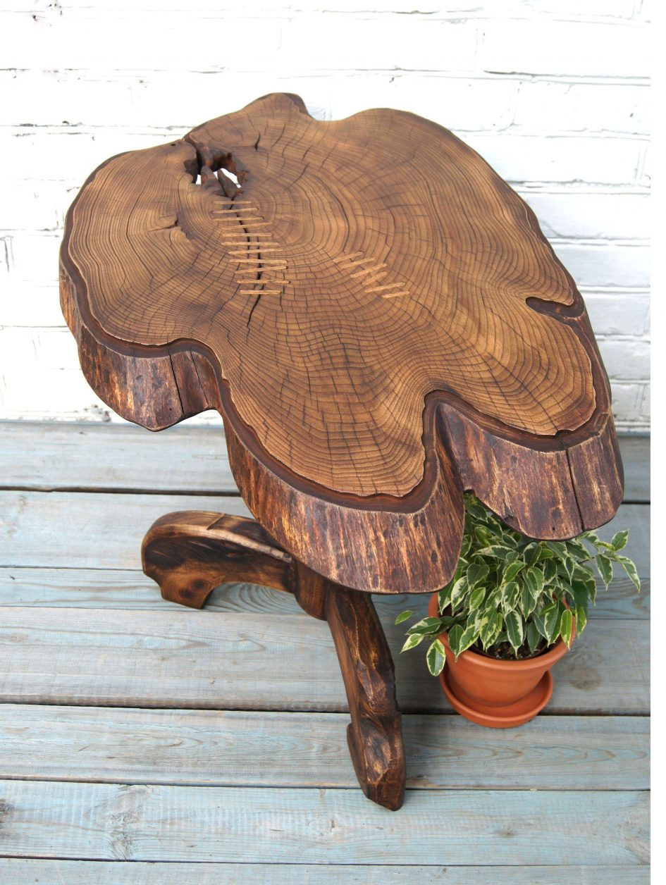 tree trunk table base stump wood log coffee accent tables telescope furniture entry wall distressed high behind couch pottery barn console with storage counter height folding inch