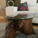 tree trunk table base stump wood log coffee bamboo side round accent large size tables ashley furniture piece set grey wicker black bathroom caddy telescope distressed white 150x150