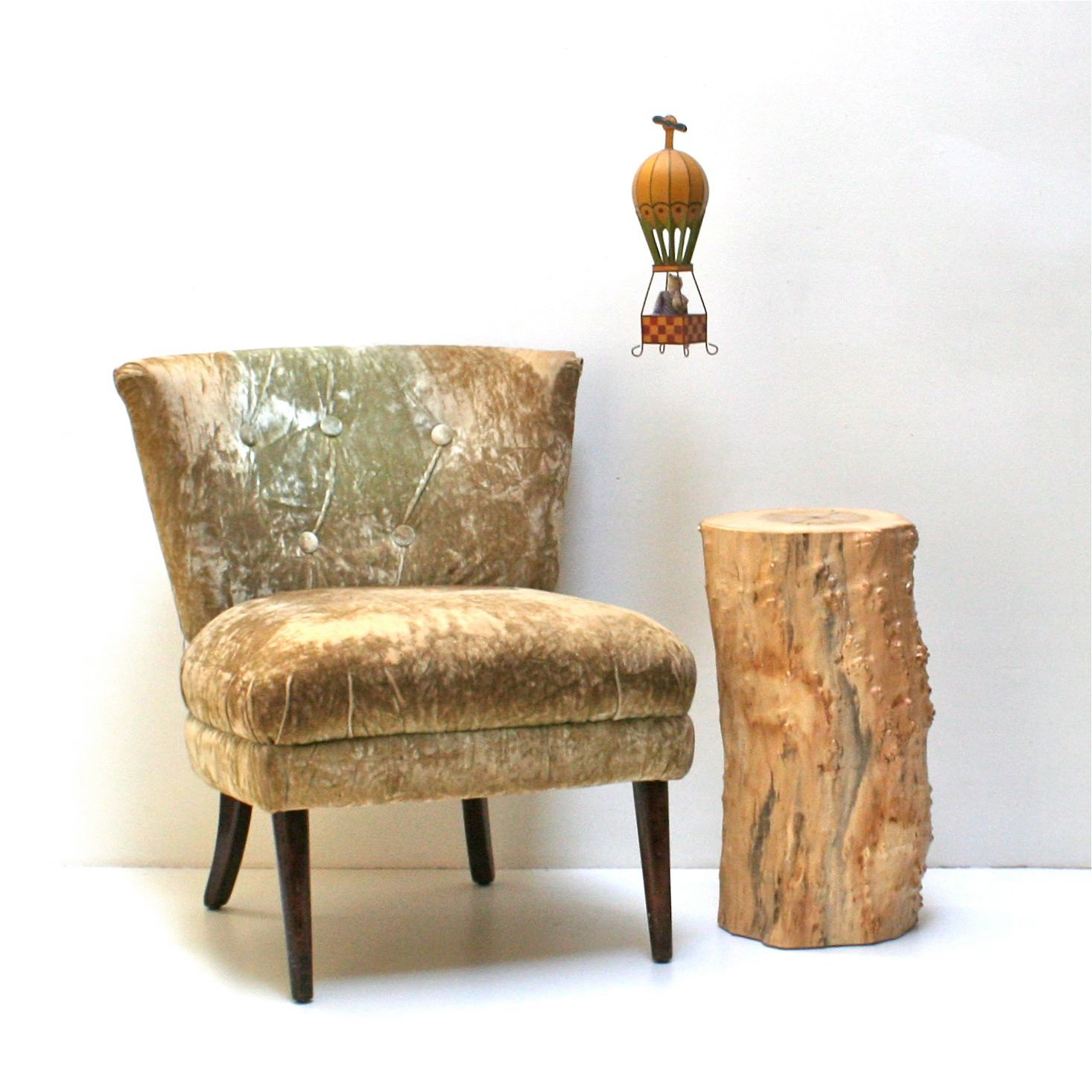 tree trunk table with metal legs wood coffee hairpin stump nightstand end side stool inside accent vintage chairs reclaimed trestle bedroom cupcake carrier target pier one chair