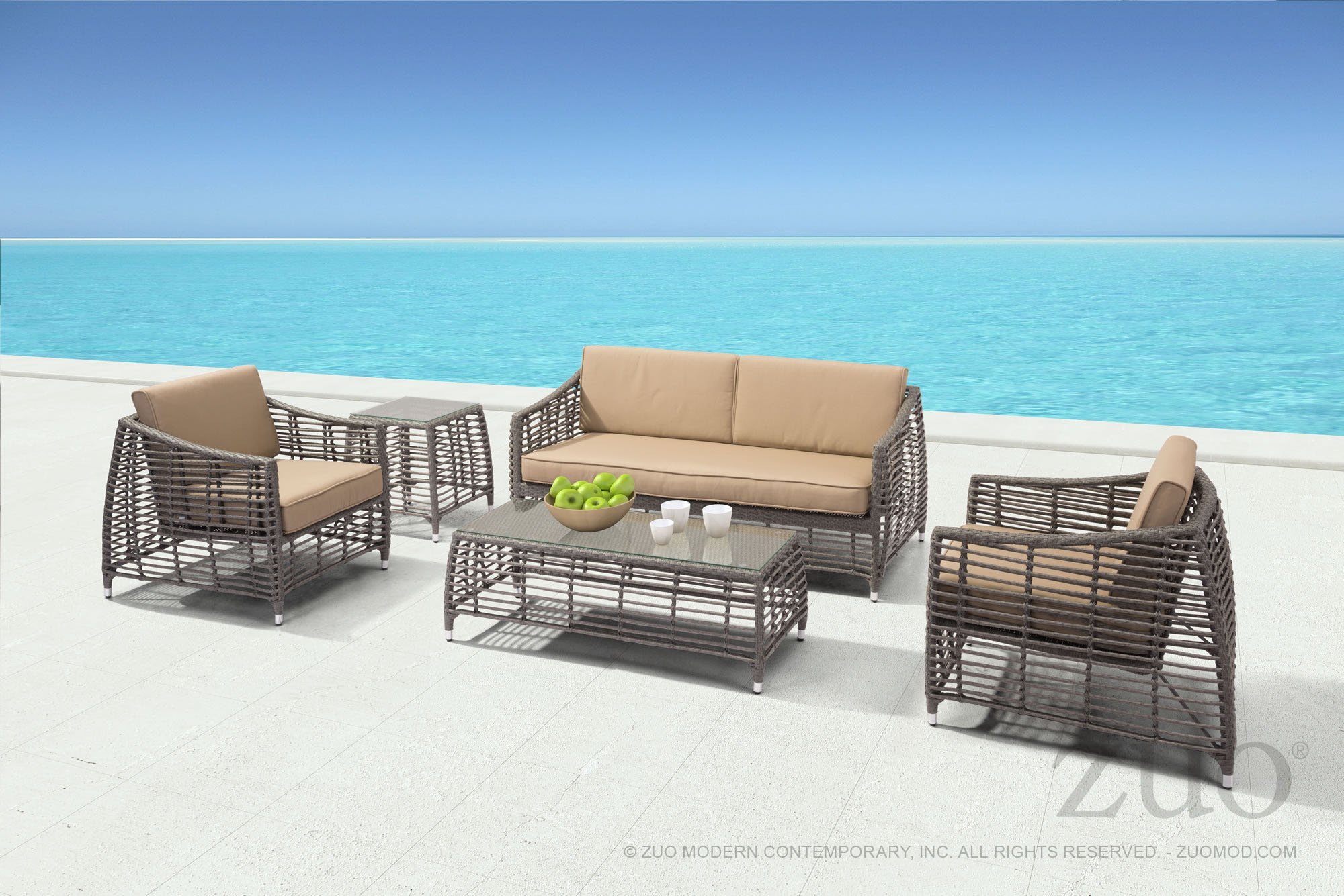 trek beach outdoor side table gray synthetic weave with tempered glass top end tables alan decor blue accent nautical lamps wood stump cool modern tray narrow sofa hairpin iron