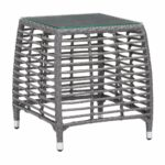 trek beach outdoor side table gray synthetic weave with tempered glass top end tables alan decor peva tablecloth flip patio and chairs bar stool set wicker metal design bunnings 150x150