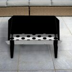 trend firepit grill combo fire bowls outdoor pits side table patio furniture collections screw legs runner for square black marble accent piece living room tables pier one 150x150