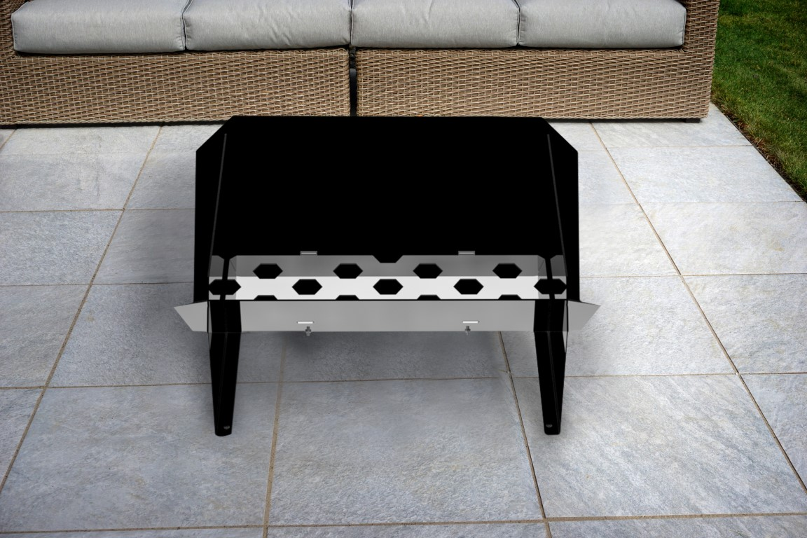 trend firepit grill combo fire bowls outdoor pits side table patio furniture collections screw legs runner for square black marble accent piece living room tables pier one