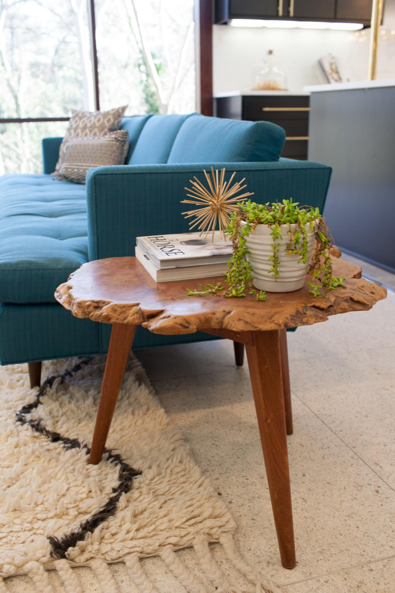trending now live edge furniture decorating design blog accent table brown living room with blue couch and side black white marble media console drop leaf folding chairs outdoor
