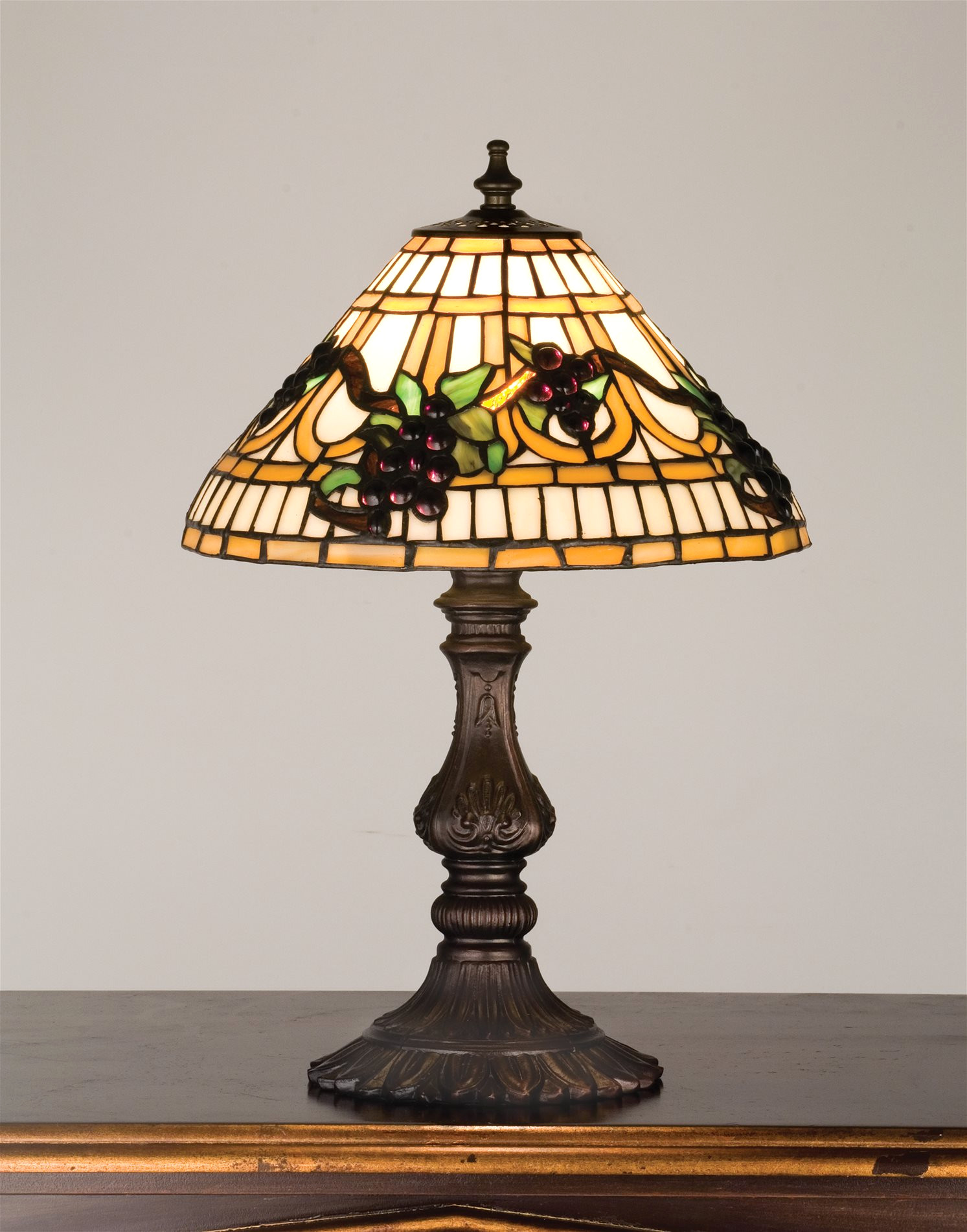 trendy tiffany accent table lamps for meyda from jeweled grape traditional grill tools small bedroom chairs patio umbrella clearance iron garden magnussen side entry room ikea