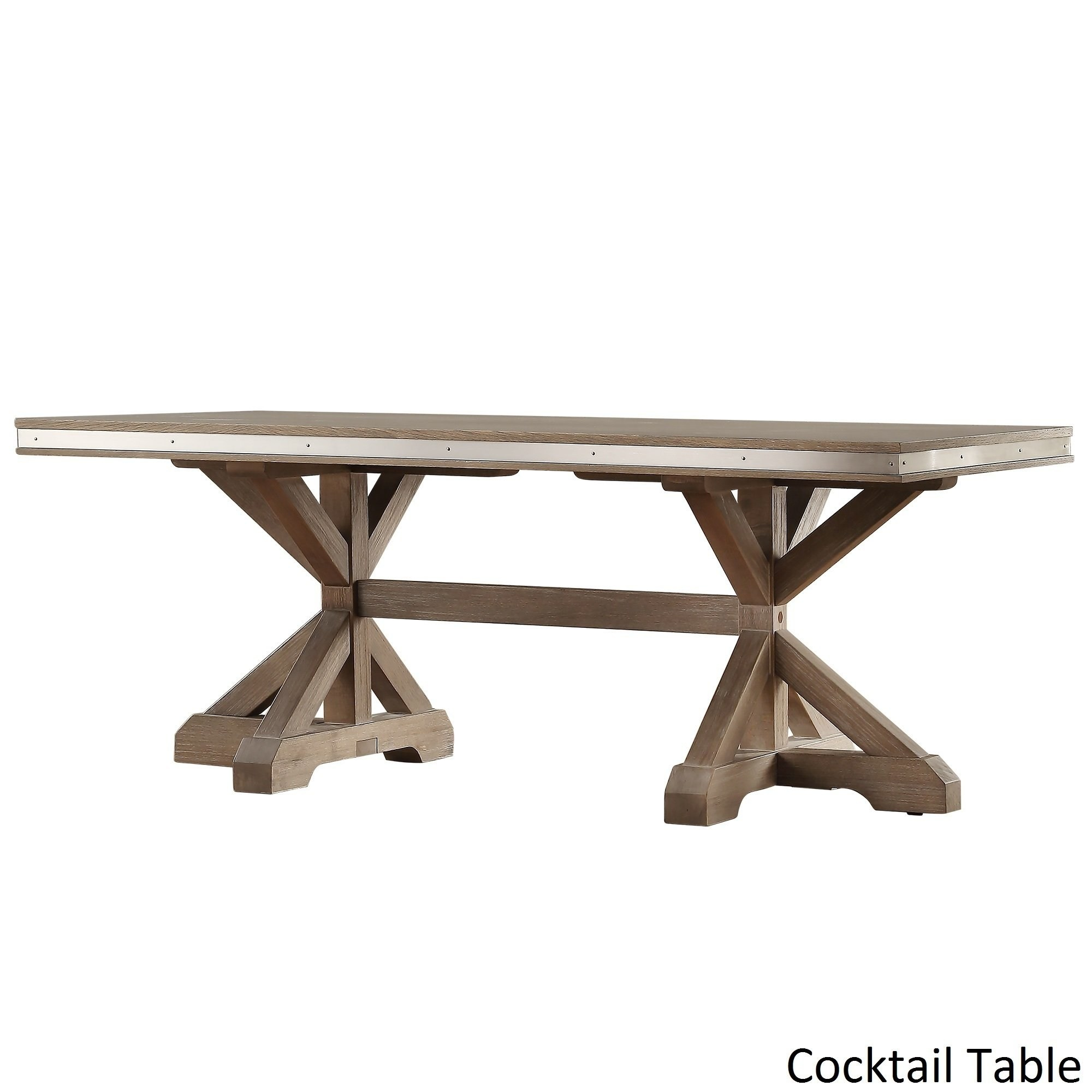 trestle table page manufacturers abbott rustic steel strap oak accent tables inspire artisan junior free shipping today round dining room seats hire melbourne metal bench legs