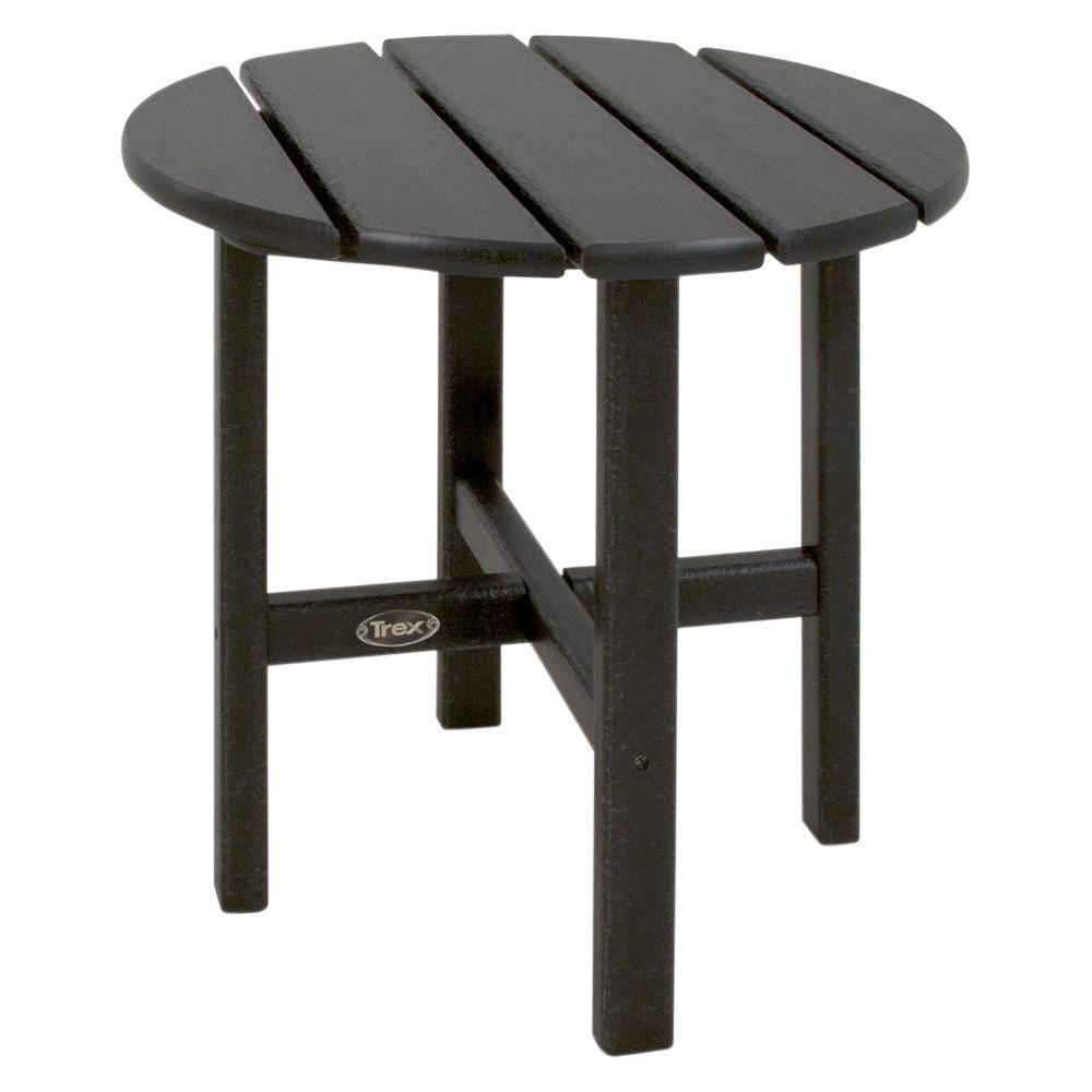 trex outdoor furniture cape cod charcoal black round plastic side tables wood table patio small garden and chairs living room lounge chair cherry dining pier big umbrella mat for