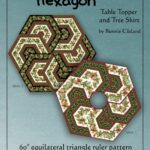 triangle frenzy hexagon pattern quilts quilt accent your focus table runner and placemats quilted runners kaleidoscope corner console white folding side small tables for living 150x150
