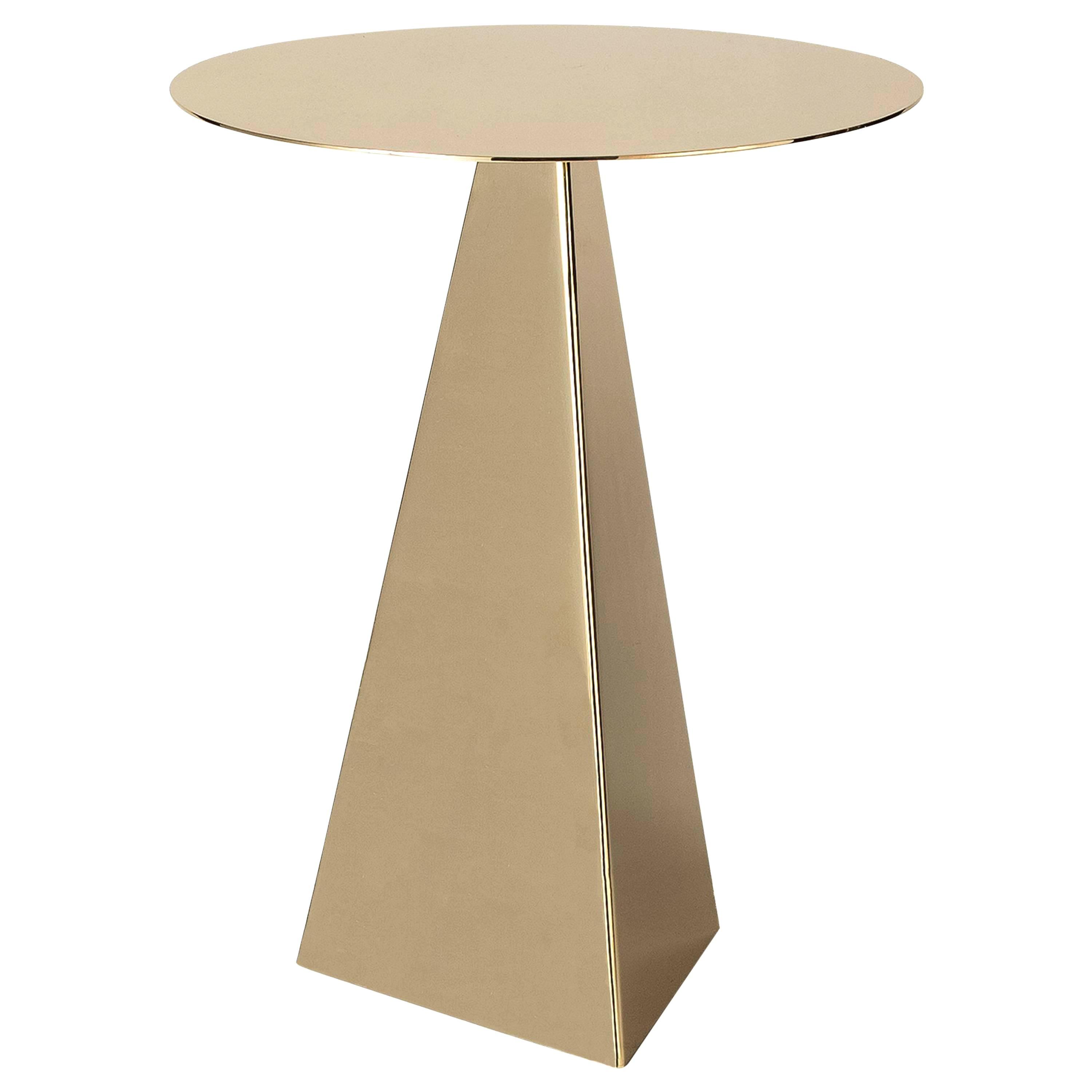 triangle side table triangular end plans armour polished brass for living room furniture small accent folding outdoor coffee grey patterned armchair glass front cabinet butler