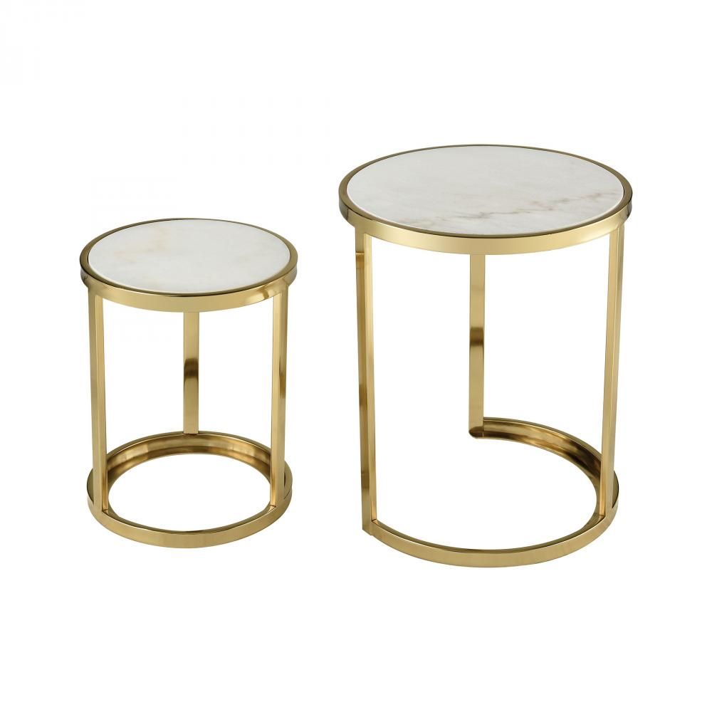 trimalchio gold plated and white metal marble set accent table tables mirrored cube side top round coffee fred meyer furniture acrylic tray baroque console house lights red end
