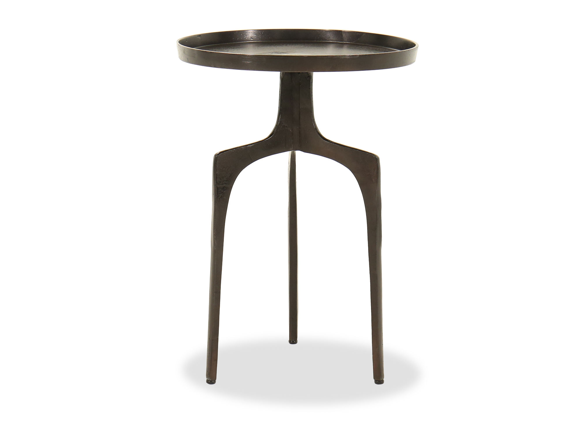 tripod base industrial accent table black mathis brothers furniture pul drum white and gold chair nesting end tables ethan allen italian coffee inch round tablecloths pine dining