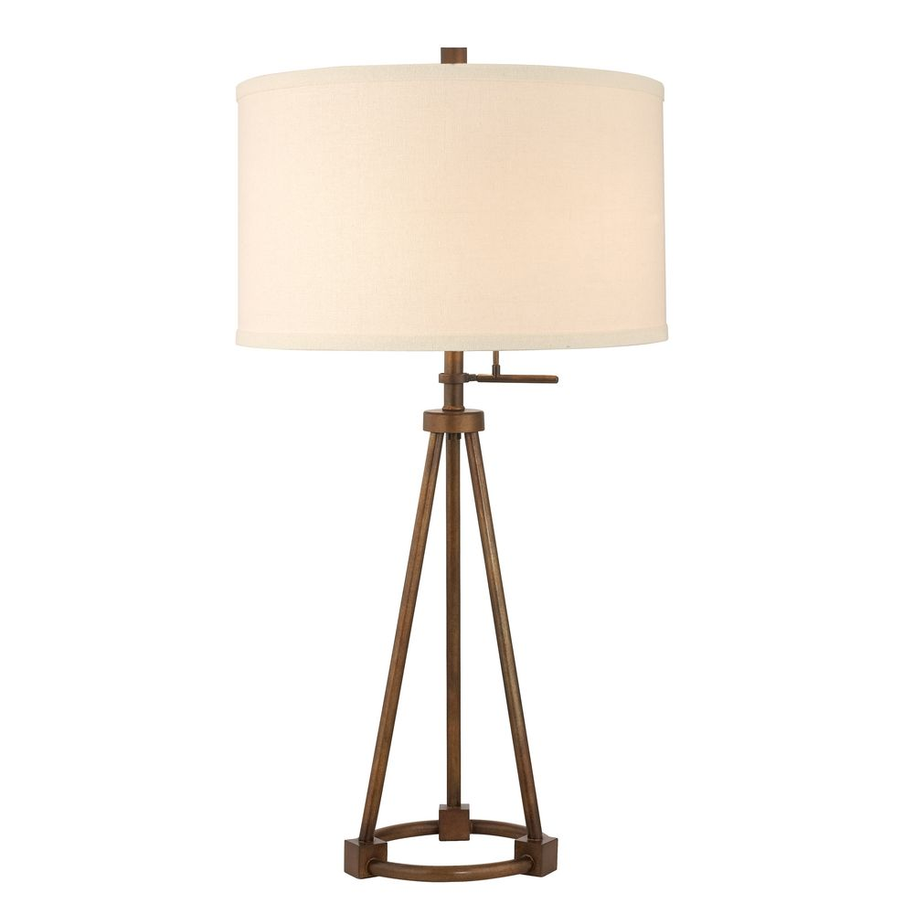 tripod table lamp bronze finish with cream drum shade dcl zoom accent lighting seattle uma enterprises lamps metal patio and chairs target storage cabinets nate berkus round gold