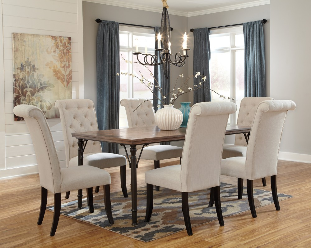 tripton rectangular dining room table uph side chairs mirimyn round accent mirror vintage scandinavian chair wrought iron sofa runner patterns free ceiling chandelier restoration