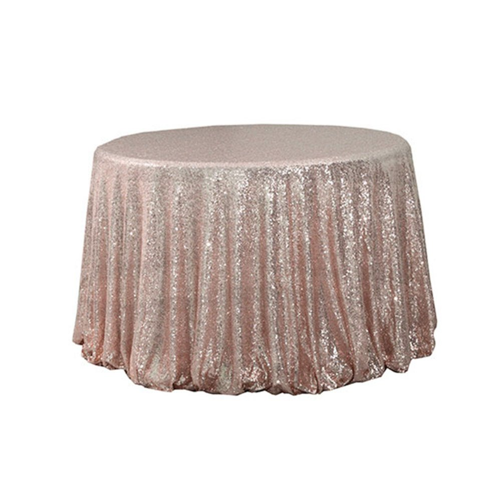 trlyc shiny round sequin tablecloth for wedding accent party rose gold home kitchen purple furniture distressed wood coffee table hutch west elm outdoor runner rugs mosaic tile