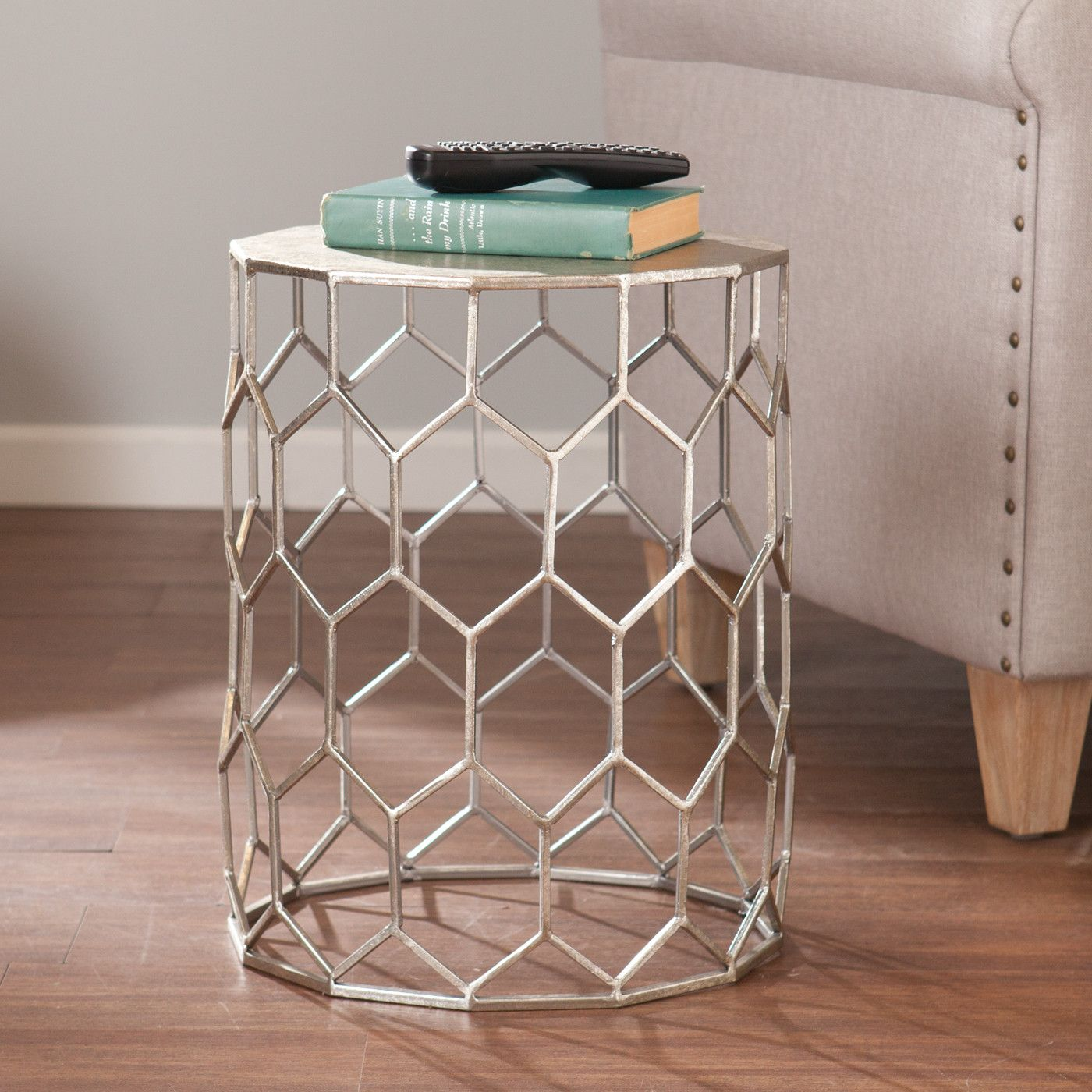 tropez metal end table products metals front rooms janika accent pedestal side mirrored ashley furniture coffee set grey wood tall hallway cabinet wooden threshold strips for