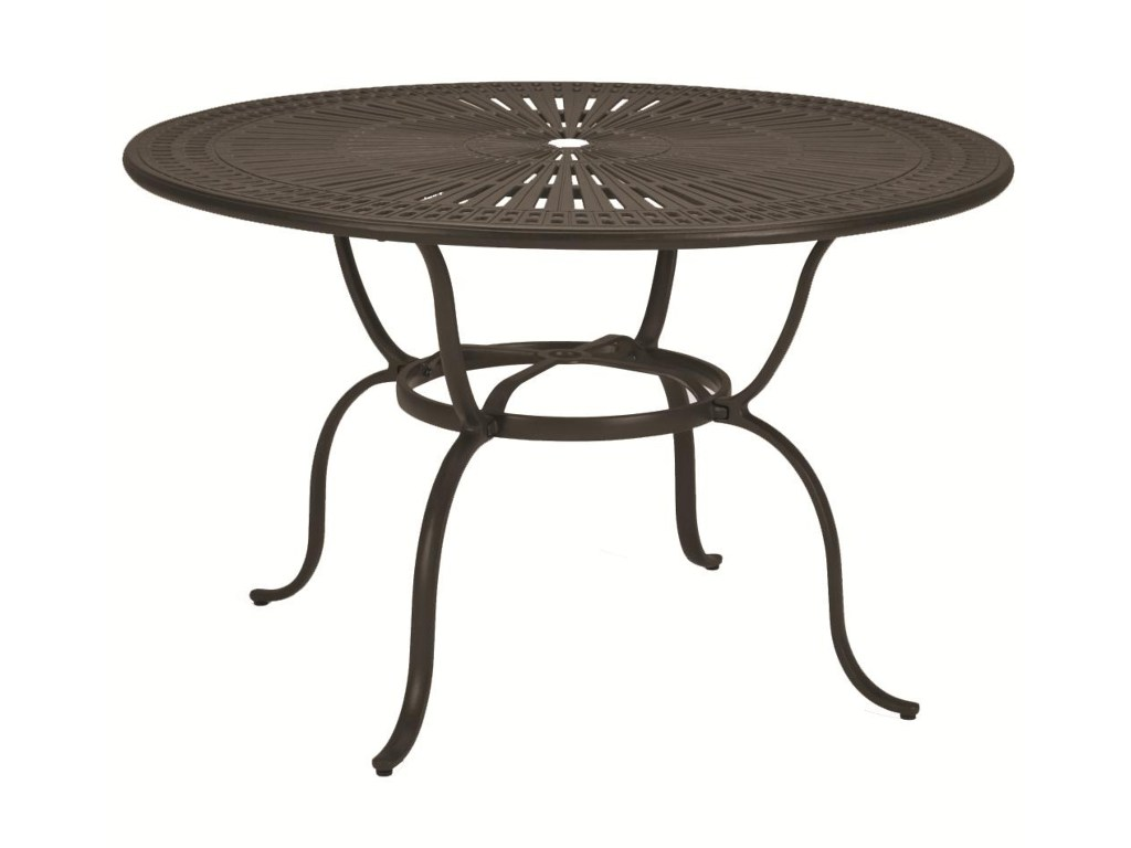 tropitone outdoor tables round pub height dining products color threshold umbrella accent table tablesoutdoor clearance furniture ikea standing mirror side cover chrome end mid
