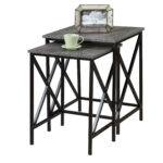 tucson nesting end tables inch high accent knurl round uttermost furniture patio table and chairs with umbrella coffee stools pottery barn occasional unique small plastic garden 150x150