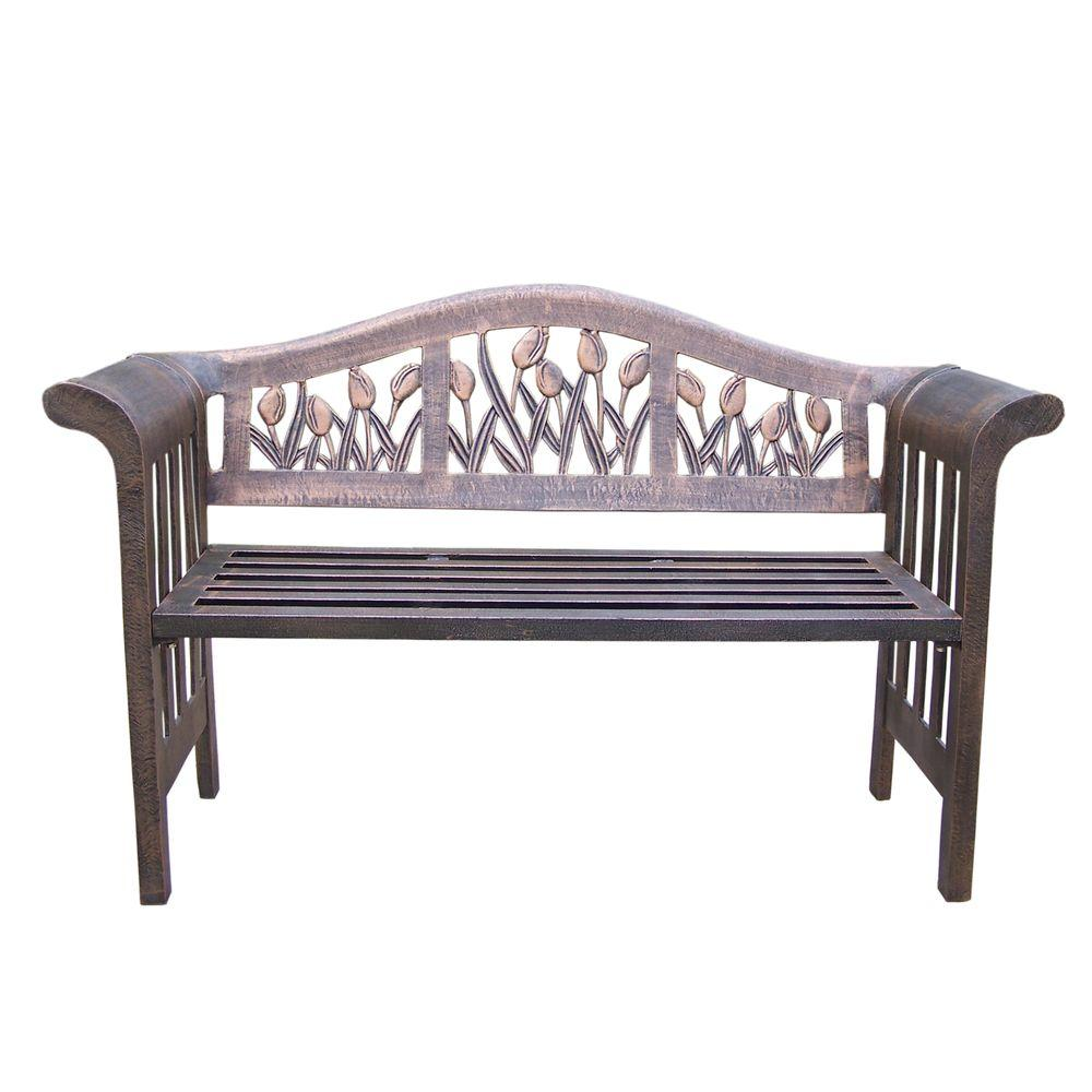 tulip royal aluminum outdoor bench the benches sideboard table salvaged wood trestle dining small gold bedroom accessories patio and chairs cover pub narrow mirrored bedside large