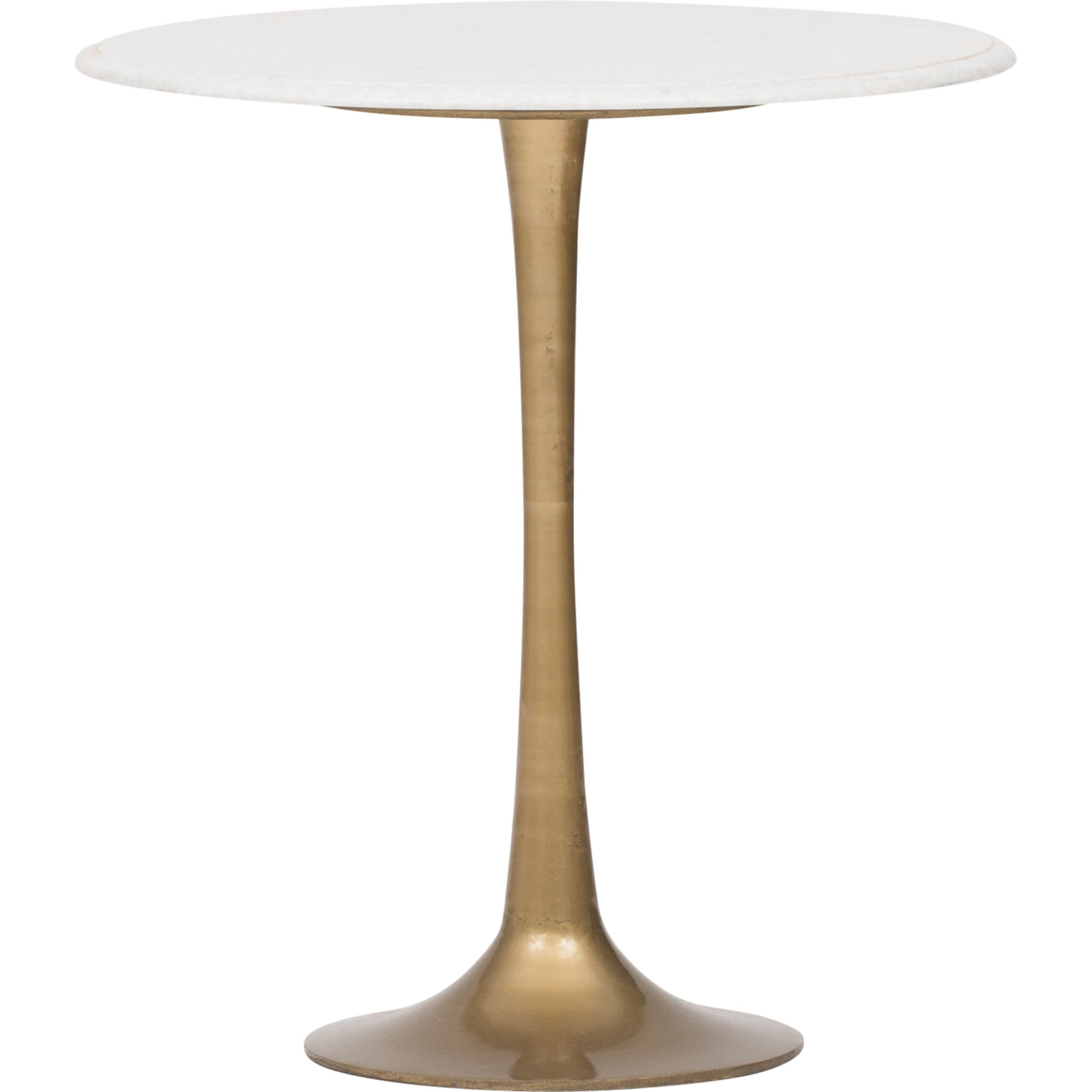 tulip side table white marble living room inspiration accent with wood trestle dining silver tray outdoor furniture sets uttermost laton mirrored patterned lamp shades small desk