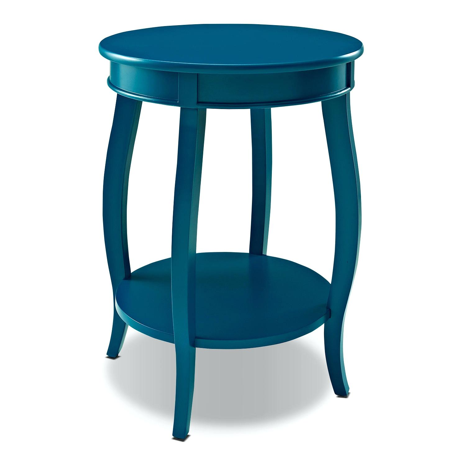 turquoise accent table and occasional furniture teal round naily blue headboard with shelves orange placemats napkins cherry end set concrete patio clearance outdoor side linon