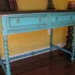 turquoise accent table aqua blue threshold transition gold mirrored nightstand bright colored coffee treasure trove end chairs for living room inch small round tablecloth 150x150