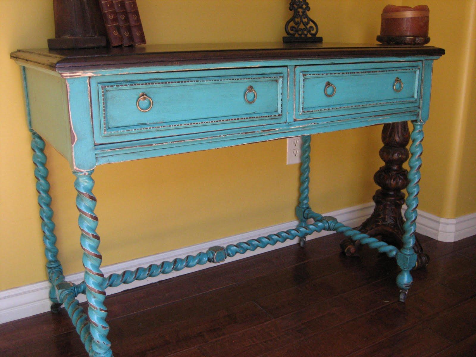 turquoise accent table aqua blue threshold transition gold mirrored nightstand bright colored coffee treasure trove end chairs for living room inch small round tablecloth