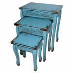 turquoise blue wooden distressed side accent table medium home outdoor nautical lamps small ikea chest room essentials stacking oak coffee sofa with matching end tables burgundy 150x150