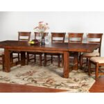 tuscany distressed mahogany piece extension table set ruby products sunny designs color harrietta accent gordon home dining more sets circular tablecloths linen red nesting tables 150x150