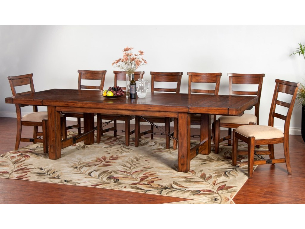 tuscany distressed mahogany piece extension table set ruby products sunny designs color harrietta accent gordon home dining more sets circular tablecloths linen red nesting tables