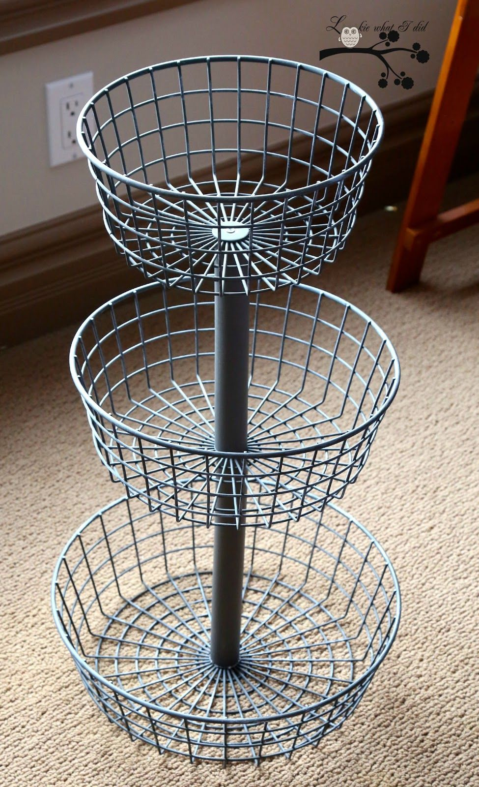 tutorial easy way turn any set baskets bowls into wire basket accent table tiered bunk beds with power strip mid century modern dining room rugs antique drop side vintage white