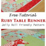 tutorial ever quilt table runners quilted accent your focus runner pattern using jelly roll free tall skinny entryway weathered white end tables marble top coffee nautical kitchen 150x150