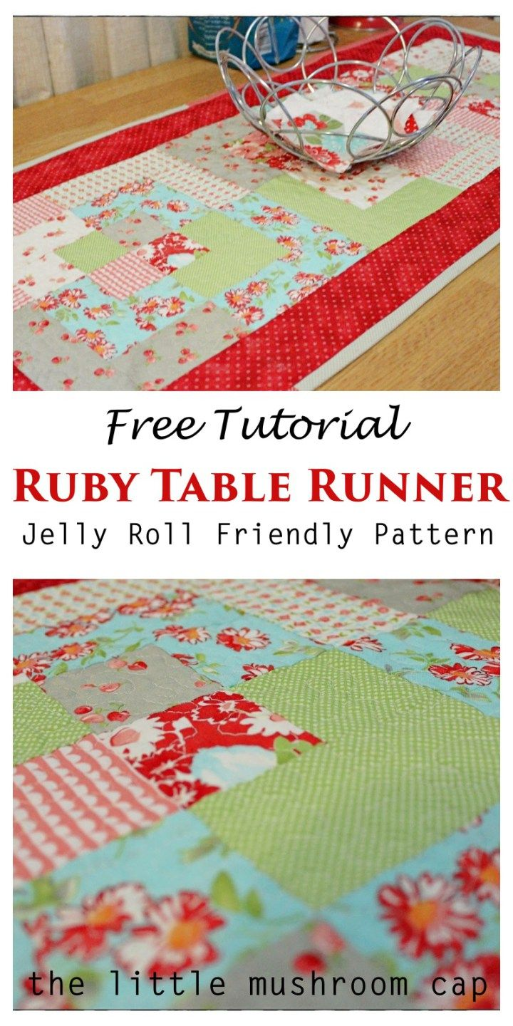 tutorial ever quilt table runners quilted accent your focus runner pattern using jelly roll free tall skinny entryway weathered white end tables marble top coffee nautical kitchen