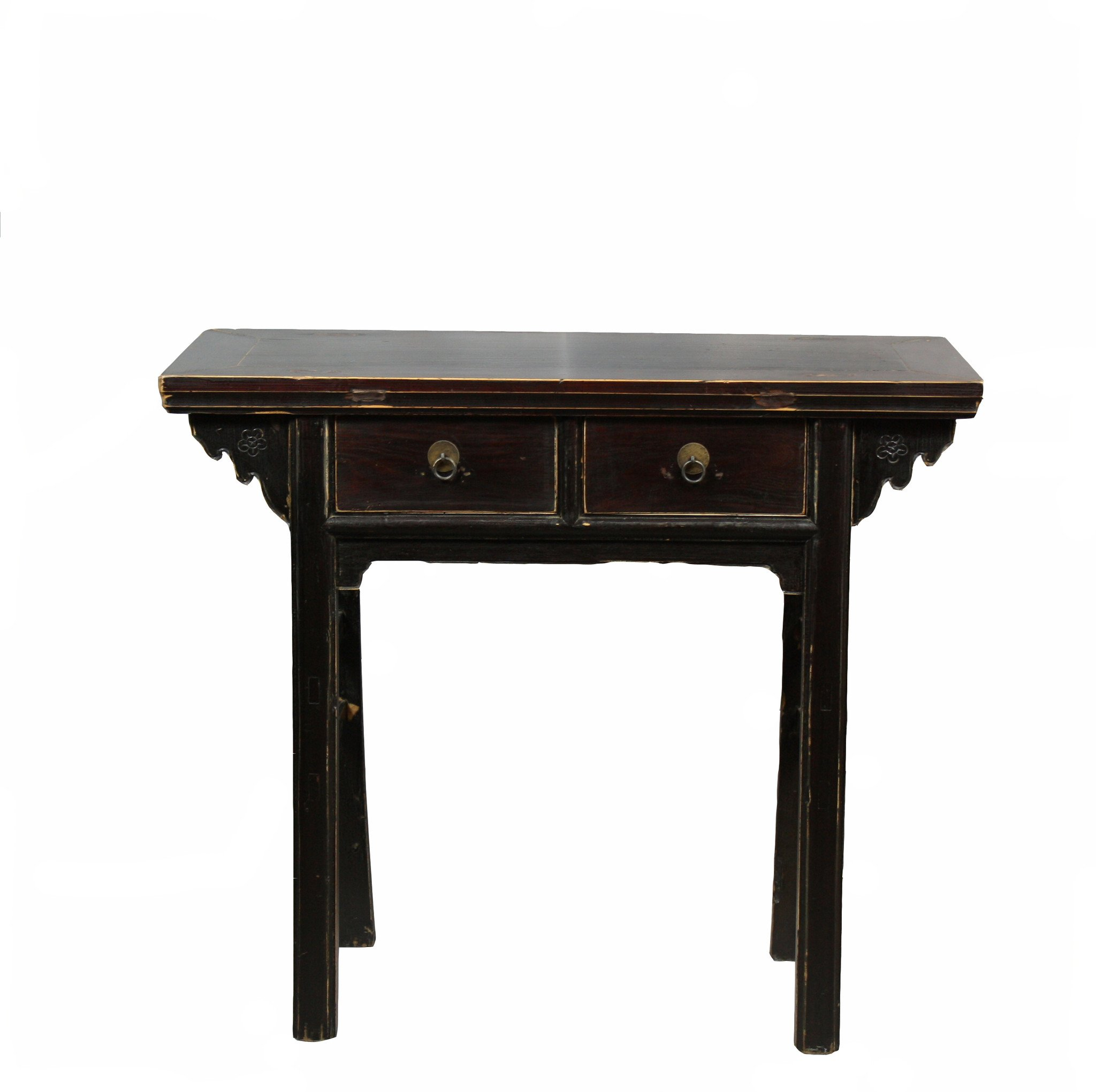 two drawer black accent table dyag east with furniture winnipeg ashley drop leaf inch square vinyl tablecloth frames vancouver metal chair legs tiffany tulip lamp stained glass