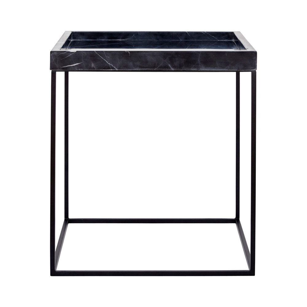 two end tables probably super best metal tray table modern designer black marble side steel base this with oak filing cabinet breadboard half round accent pier one imports couch