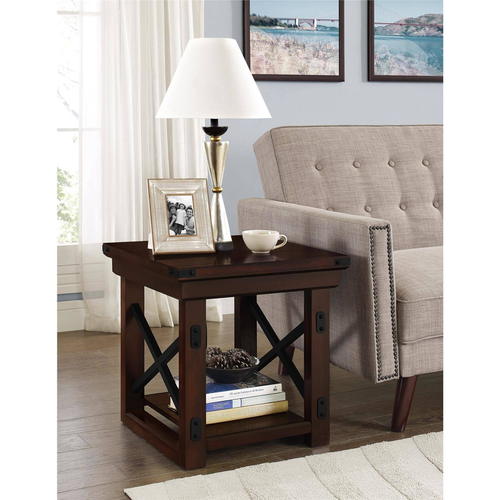 type writer intl get unlimited furniture delivery from crate better homes and gardens piece living room set end table dark wood accent sofa tray ikea white circle coffee large