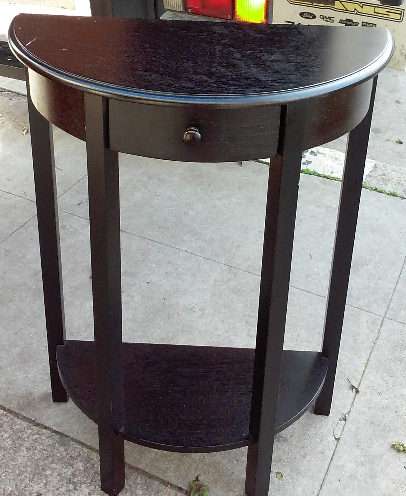uhuru furniture collectibles sold tall half moon elephant metal accent table river goods multi colored end tables white lacquer side tablecloth black lamps room essentials hairpin
