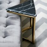 ultra triangle brass and marble accent table zebra waterproof phone pouch target diy concrete home goods kitchen decorative metal legs west elm piece side rustic coffee with 150x150