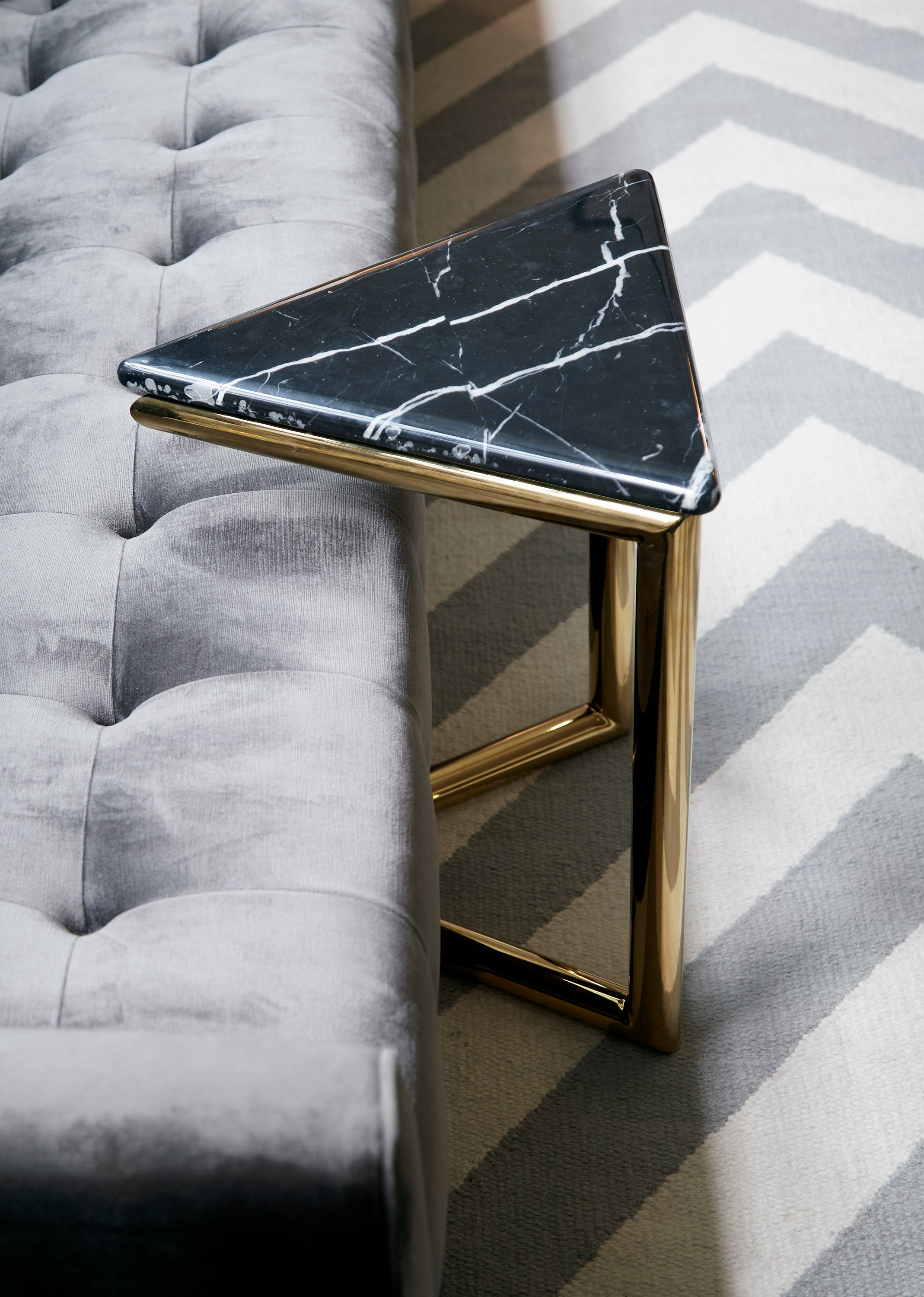 ultra triangle brass and marble accent table zebra waterproof phone pouch target diy concrete home goods kitchen decorative metal legs west elm piece side rustic coffee with