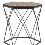 uma brown gray metal wood accent table nordstrom rack kitchen cupboards coffee side white bedside cabinets seaside decor copper long counter height set farmhouse style dining room 150x150