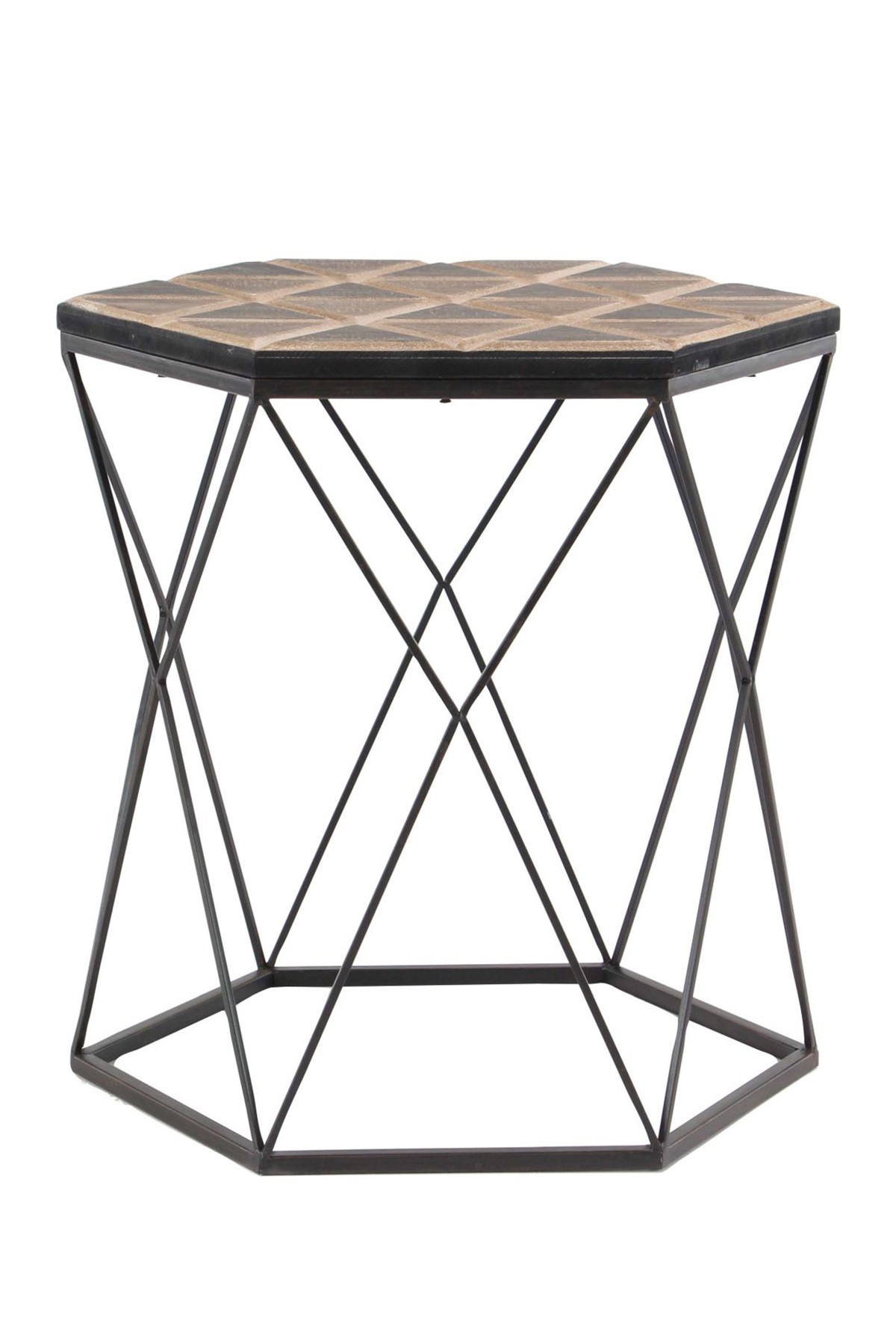 uma brown gray metal wood accent table nordstrom rack kitchen cupboards coffee side white bedside cabinets seaside decor copper long counter height set farmhouse style dining room