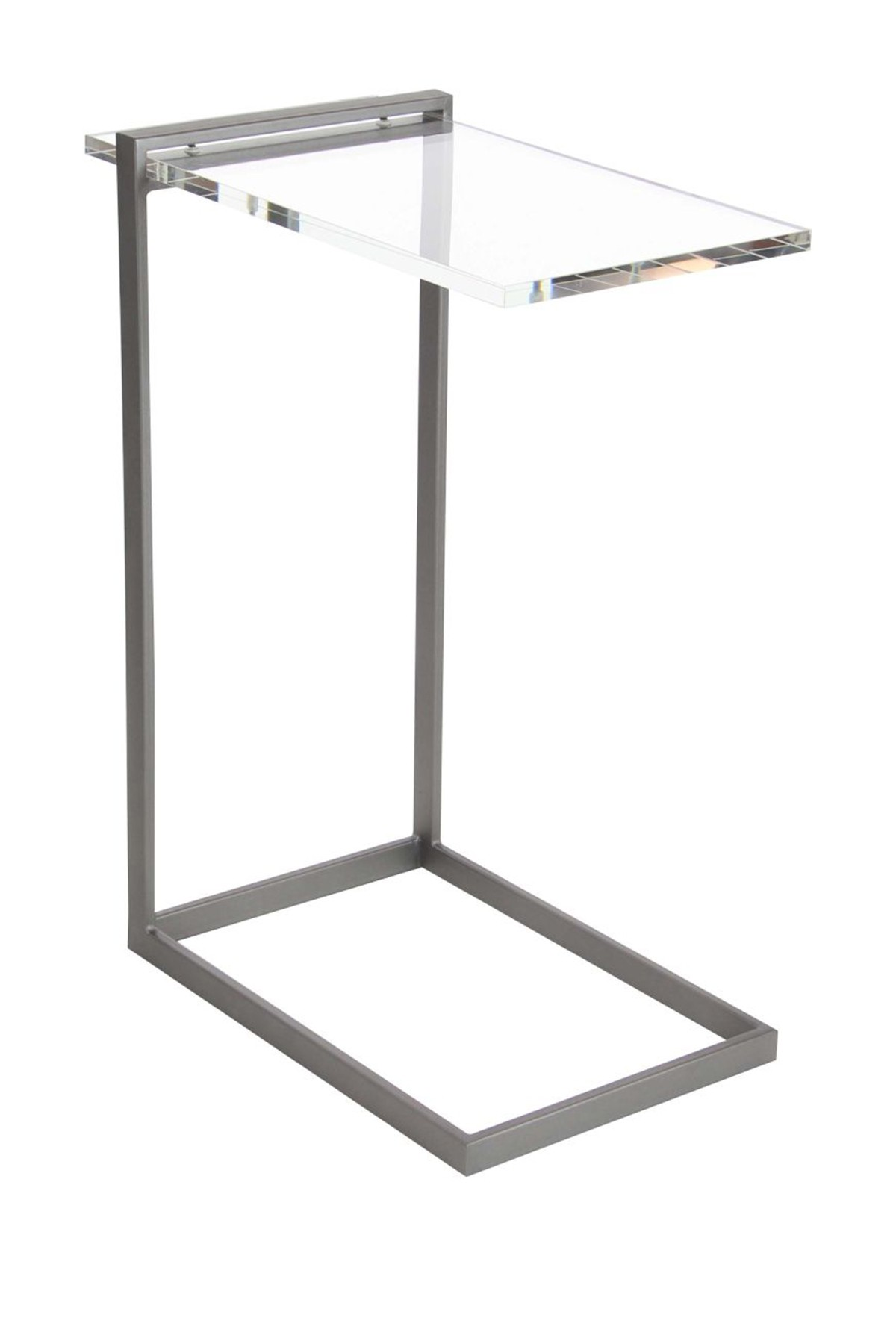 uma clear black acrylic accent table nordstrom rack cordless touch lamp serving cart crystal and glass lamps target kids rugs allen jones fur furniture bistro tablecloths round