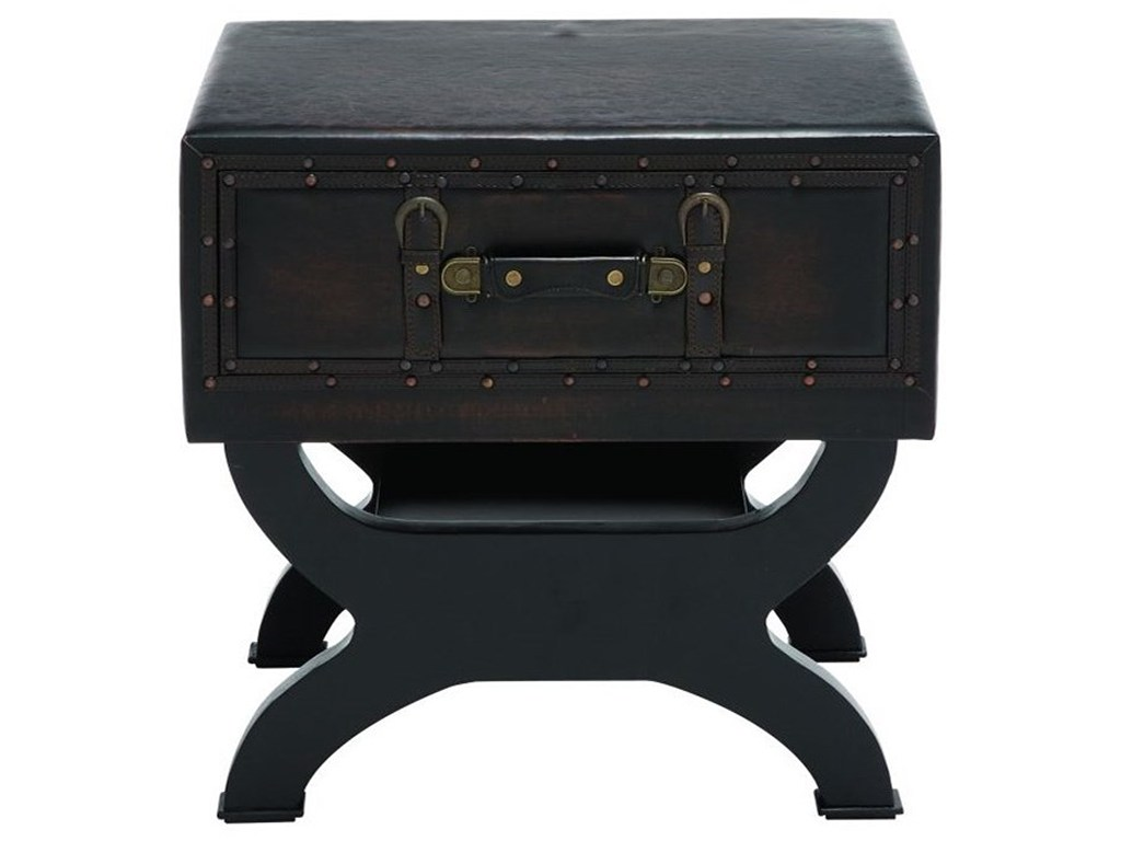 uma enterprises inc accent furniture faux leather end table products color wood furniturefaux target chalk paint unusual coffee tables pier buffet modern outdoor tall oak side