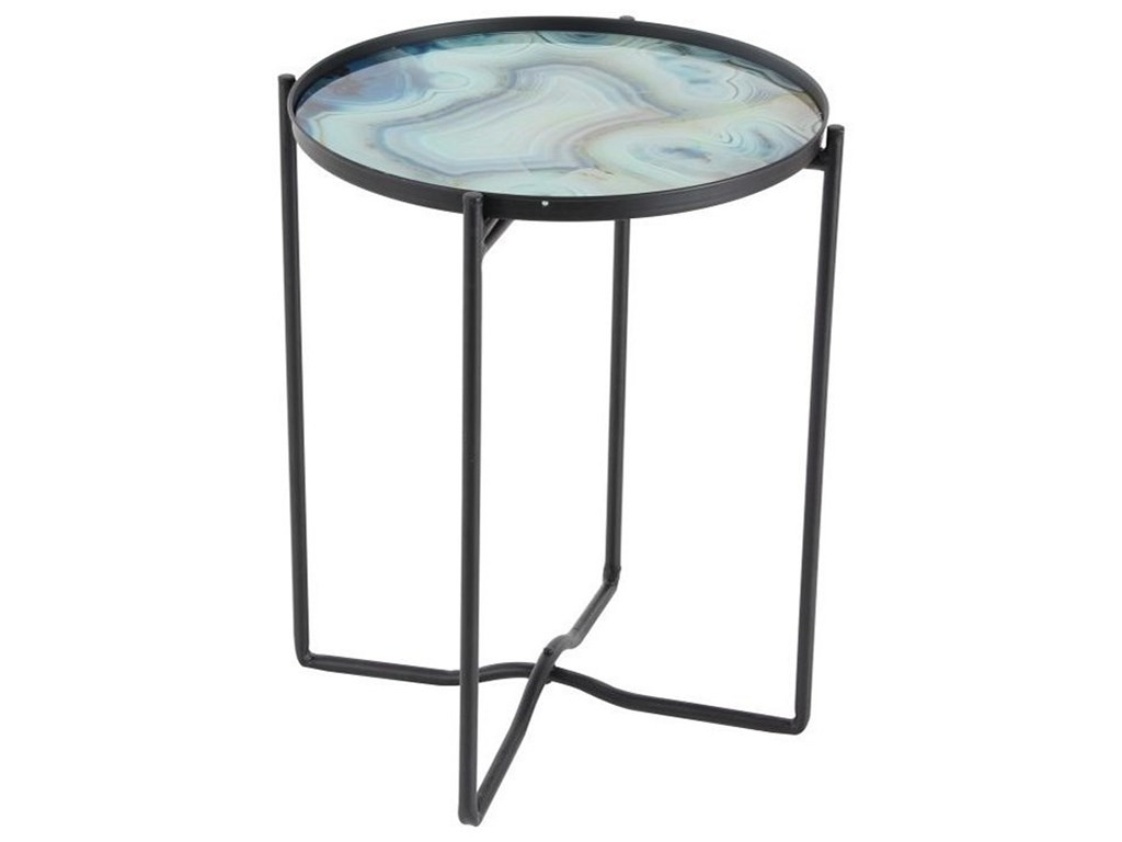 uma enterprises inc accent furniture metal glass table products color furnituremetal inch round tablecloth small wicker chair nightstand united ocean themed chandelier modern gold