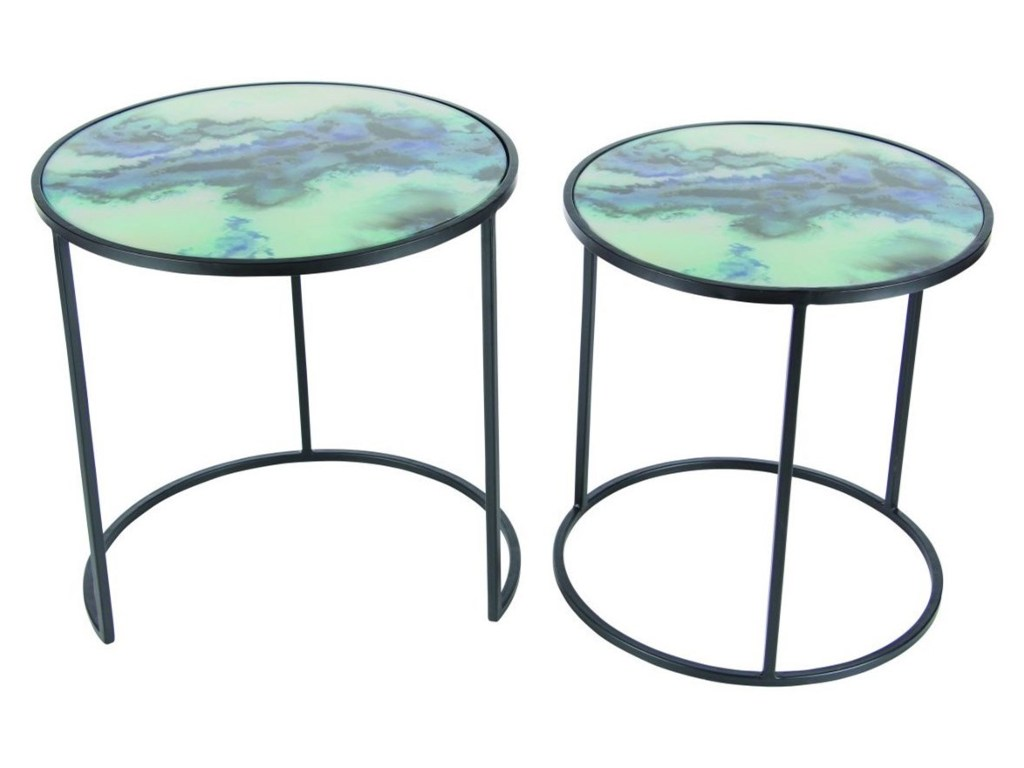 uma enterprises inc accent furniture metal glass tables products color table furnituremetal set mirrored with drawer curtain rods pottery barn farmhouse bedside jcpenney rugs