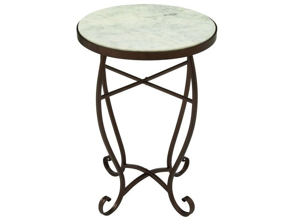 uma enterprises inc accent furniture metal marble round products color table furnituremetal dorm room decor inch end trestle bench legs mid century modern dining clearance patio