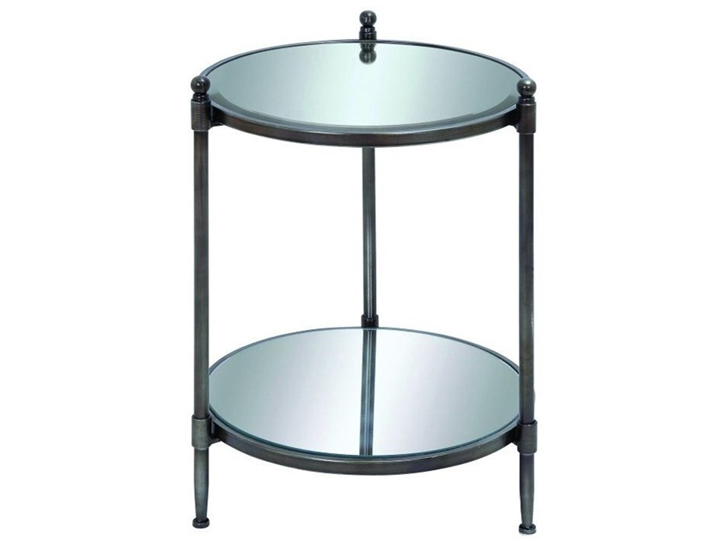 uma enterprises inc accent furniture metal mirror products color end table with small round coffee ikea meyda tiffany lighting clear acrylic and sets aluminum tall square funky