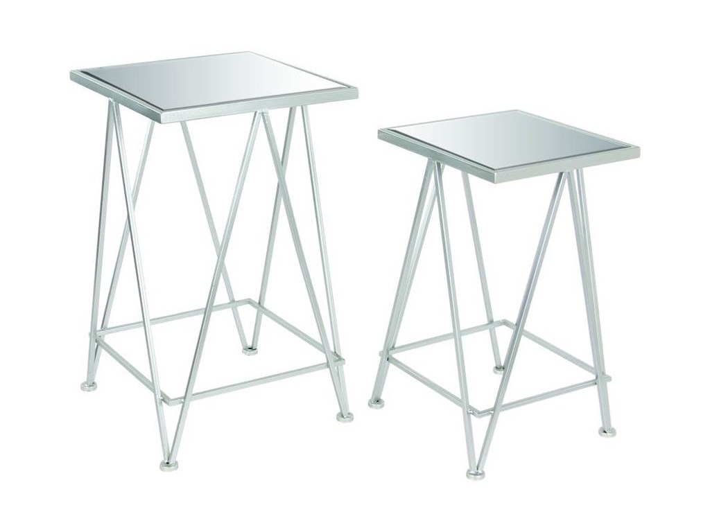 uma enterprises inc accent furniture metal mirror side tables set products color table furnituremetal tension rod shabby chic desk wood drum nic bunnings grey kitchen chairs woven