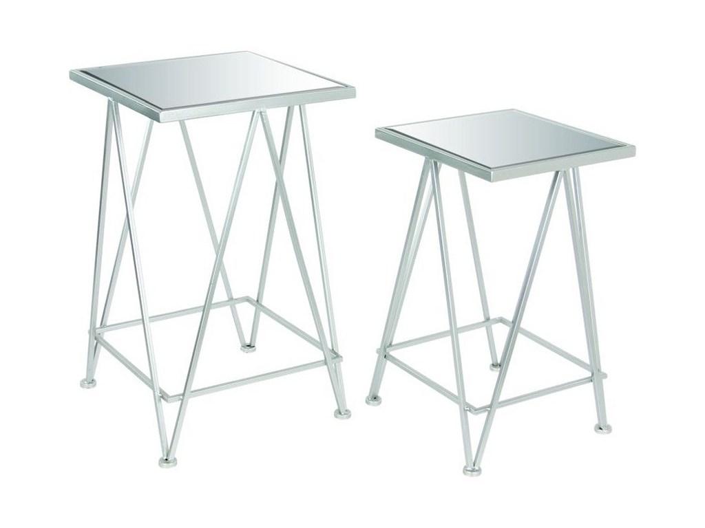 uma enterprises inc accent furniture metal mirror side tables set products color with matching mirrors furnituremetal round oak table futon covers glass end kirklands lamps tile