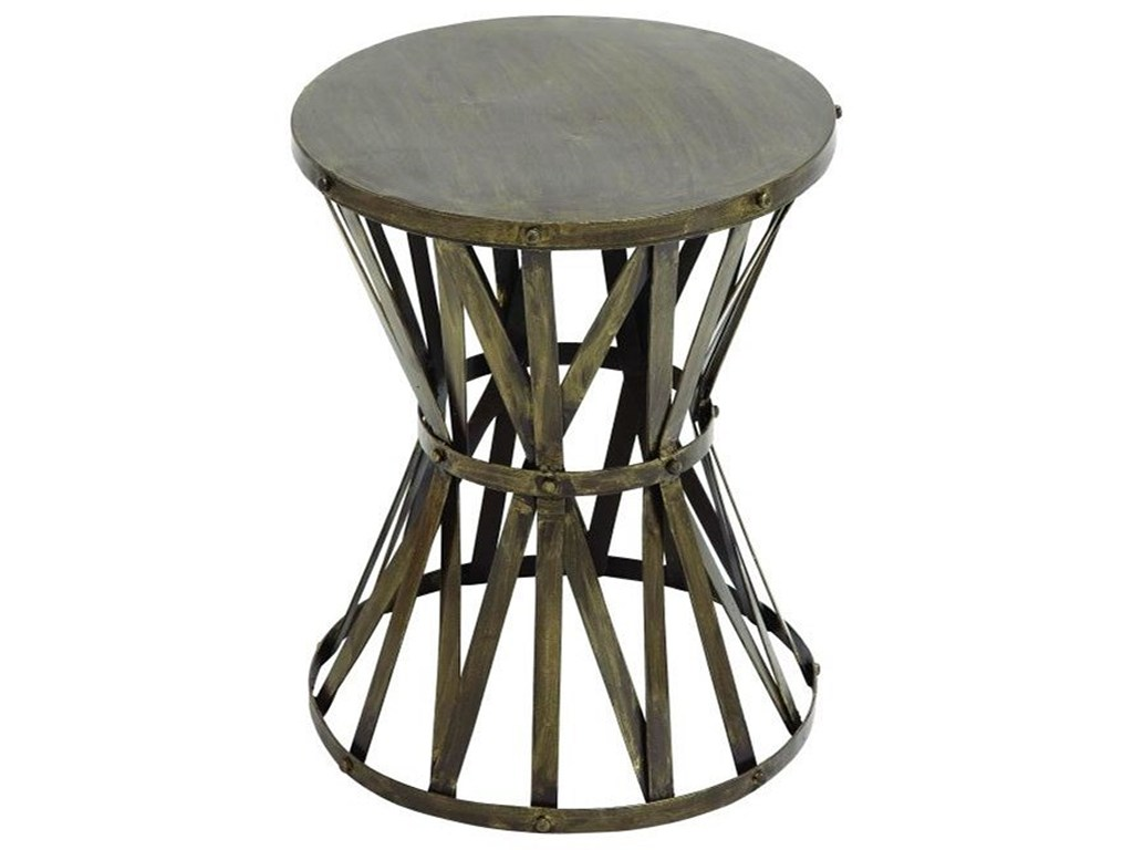uma enterprises inc accent furniture metal table howell products color furnituremetal inch round tablecloth tiffany lily lamp modern sofa moroccan drum yellow side console mosaic