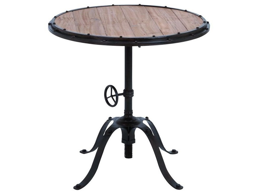 uma enterprises inc accent furniture metal wood round table products color and reading lamp little coffee pedestal end weber grill side monarch specialties set accessory tables